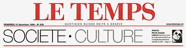 Le Temps — Hervé Joseph Lebrun explore le corps automutilé d'un nonagénaire