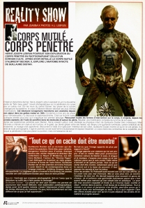 Reactor — Juin, juillet, août 2000 — Corps mutilé, corps pénétré — Albrecht Becker, Guillaume Dustan, Hervé Joseph Lebrun — Corps mutilé, corps pénétré par Joanna K.