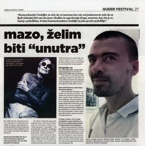 Slobodna Dalmacija 10/09/2005 — Heteronormativity of Childhood — Queer Zagreb — Hervé Joseph Lebrun — Albrecht Becker