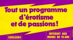 Tout un programme d'érotisme et de passions — Le Blog de Monsieur Bier