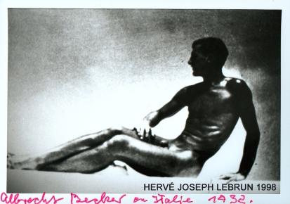 Albrecht Becker, autoportrait 1932